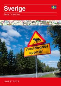Sverige Vägkarta : Skala 1:1,2milj