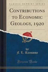 Contributions to Economic Geology, 1920 (Classic Reprint)