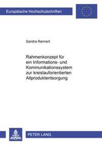 Rahmenkonzept Fuer Ein Informations- Und Kommunikationssystem Zur Kreislauforientierten Altproduktentsorgung
