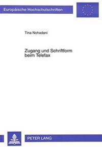 Zugang Und Schriftform Beim Telefax
