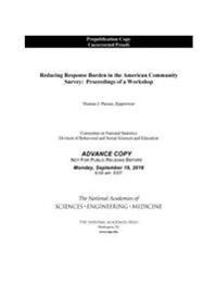 Reducing Response Burden in the American Community Survey