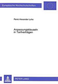 Anpassungsklauseln in Tarifvertraegen
