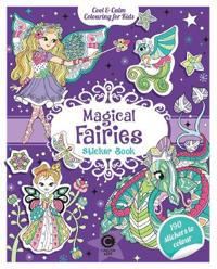 CoolCalm Colouring for Kids Magical Fairies Sticker Book