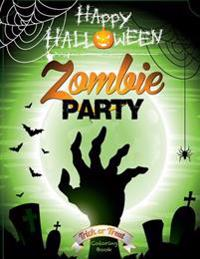 Happy Halloween Zombie Party Coloring Book