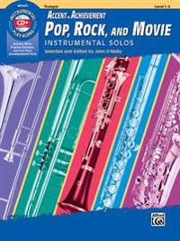Aoa Pop, Rock, and Movie Instrumental Solos: Trumpet, Book & CD