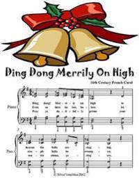 Ding Dong Merrily On High - Elementary Piano Sheet Music Junior Edition