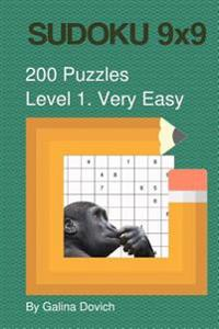 Sudoku 9x9 200 Puzzles: Level 1. Very Easy