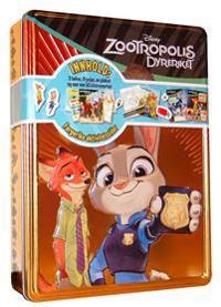 Zootropolis dyreriket. Disney tinnboks. 3 bøker, 4 tusjer, 1 plakat og 50 klistremerker