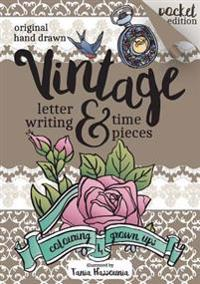 Vintage Lettering and Time Pieces Colouring Book