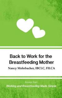 Back to Work for the Breastfeeding Mother: Excerpt from Working and Breastfeeding Made Simple