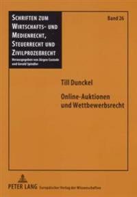 Online-Auktionen Und Wettbewerbsrecht