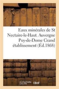 Eaux Min�rales de St Nectaire-Le-Haut. Auvergne Puy-De-Dome Grand �tablissement