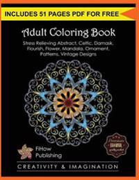 Adult Coloring Book Stress Relieving Abstract Celtic Damask