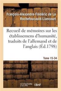 Recueil de Memoires Sur Les Etablissemens D'Humanite, Vol. 15, Memoire N 34