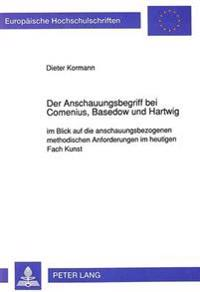 Der Anschauungsbegriff Bei Comenius, Basedow Und Hartwig: Im Blick Auf Die Anschauungsbezogenen Methodischen Anforderungen Im Heutigen Fach Kunst