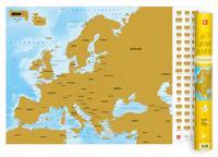 Europa - Skrapkarta
