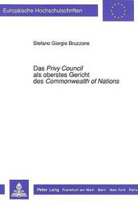 Das Privy Council ALS Oberstes Gericht Des Commonwealth of Nations