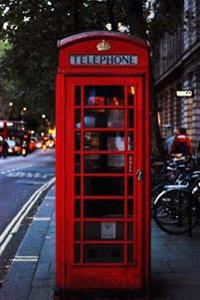 Red Telephone Box in London England Journal: 150 Page Lined Notebook/Diary