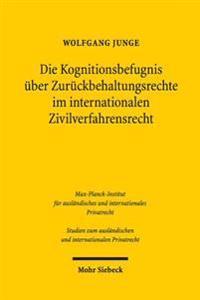 Die Kognitionsbefugnis Uber Zuruckbehaltungsrechte Im Internationalen Zivilverfahrensrecht