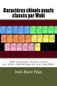 Caracteres Chinois Usuels Classes Par Wubi: 3500 Caracteres Classes Par Ordre Alphabetique de Leur Code Wubi