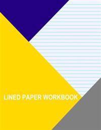 Lined Paper Workbook: Blue with Medium Aqua Lines