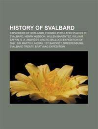 History of Svalbard