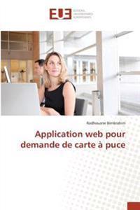 Application web pour demande de carte à puce