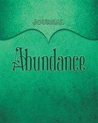Abundance Journal: Teal 8x10 128 Page Lined Journal Notebook Diary (Volume 1)