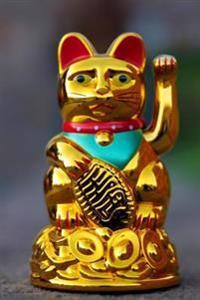 Gold Maneki Neko Japanese Lucky Cat Journal: 150 Page Lined Notebook/Diary