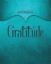Gratitude Journal: Aqua 8x10 128 Page Lined Journal Notebook Diary (Volume 1)