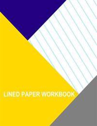 Lined Paper Workbook: Diagonal Right Left 1 Inch