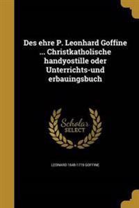 GER-DES EHRE P LEONHARD GOFFIN