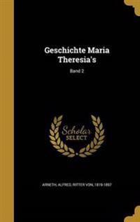 GER-GESCHICHTE MARIA THERESIAS
