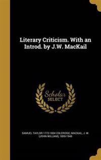 LITERARY CRITICISM W/AN INTROD