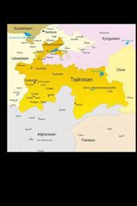 Map of Tajikistan Journal: 150 Page Lined Notebook/Diary