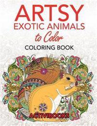 Artsy Exotic Animals to Color Coloring Book