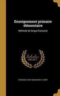FRE-ENSEIGNEMENT PRIMAIRE ELEM