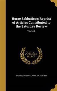 HORAE SABBATICAE R OF ARTICLES