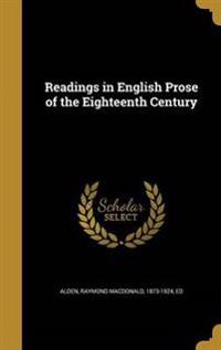 READINGS IN ENGLISH PROSE OF T