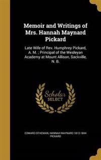 MEMOIR & WRITINGS OF MRS HANNA
