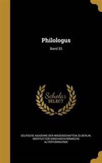 GER-PHILOLOGUS BAND 53