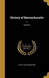 HIST OF MASSACHUSETTS V01