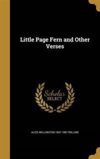 LITTLE PAGE FERN & OTHER VERSE