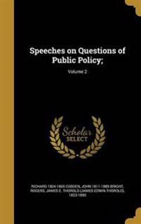 SPEECHES ON QUES OF PUBLIC POL