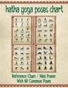 "Hatha Yoga Poses Chart: 60 Common Yoga Poses and Their Names - A Reference Guide to Yoga Asanas (Postures) || 8.5 x 11"" Full-Color 4-Panel Pamphlet"
