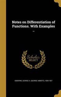 NOTES ON DIFFERENTIATION OF FU