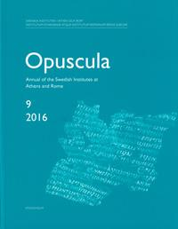 Opuscula 9 | 2016