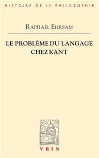 Le Probleme Du Langage Chez Kant