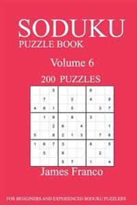 Sudoku Puzzle Book: 200 Puzzles-Volume 6