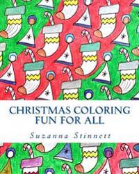 Christmas Coloring Fun for All: Classical Christmas Scenes and Patterns